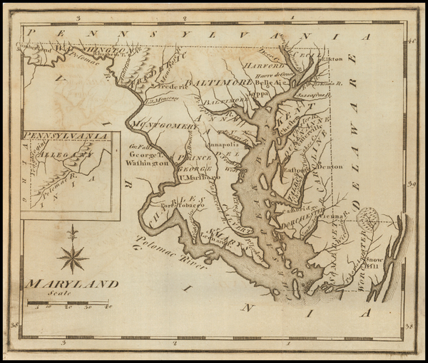15-Maryland Map By Joseph Scott