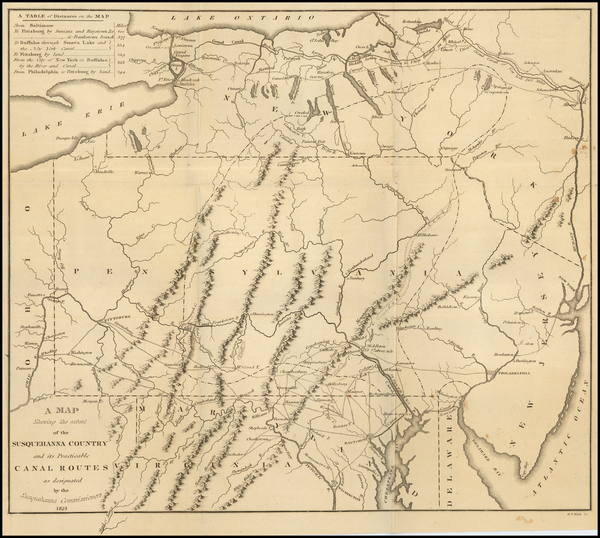 58-New York State, New Jersey, Pennsylvania and Maryland Map By Fielding Lucas Jr.
