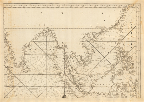 1-Indian Ocean, China, India, Southeast Asia, Philippines, Indonesia and Malaysia Map By Robert S