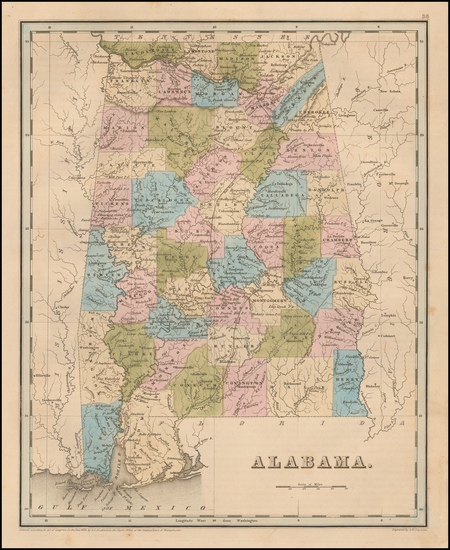 77-Alabama Map By Thomas Gamaliel Bradford