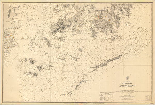 19-China and Hong Kong Map By British Admiralty