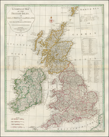 British Isles Map By Robert Sayer