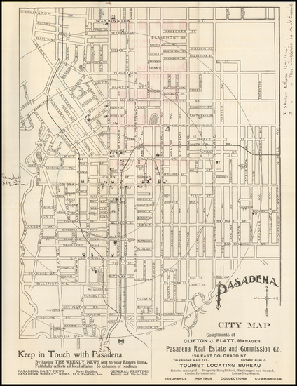 55-Other California Cities Map By Pasadena Real Estate and Commission Co.
