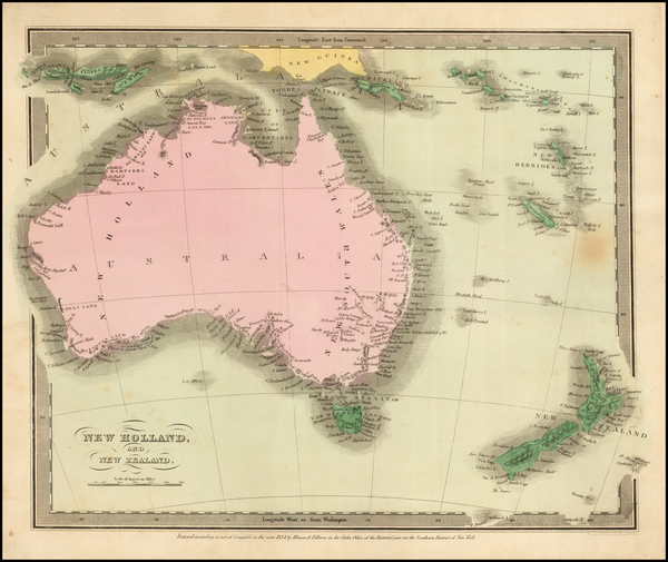 62-Australia Map By David Hugh Burr