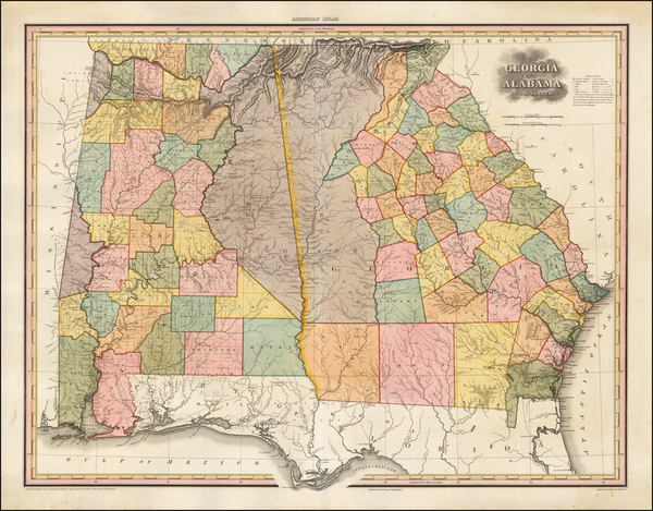 40-South, Alabama and Georgia Map By Henry Schenk Tanner
