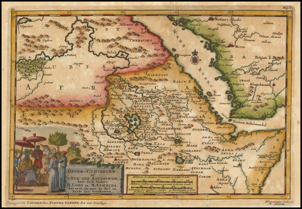 70-Middle East, Arabian Peninsula and North Africa Map By Pieter van der Aa