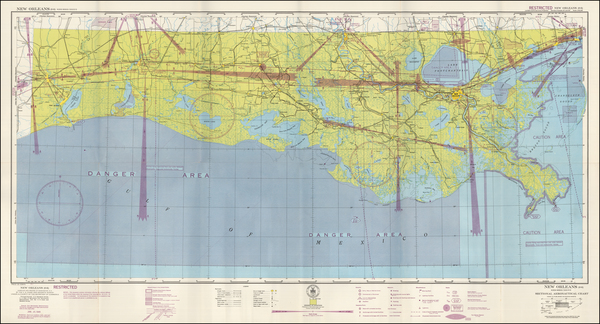 90-Louisiana Map By U.S. Coast & Geodetic Survey