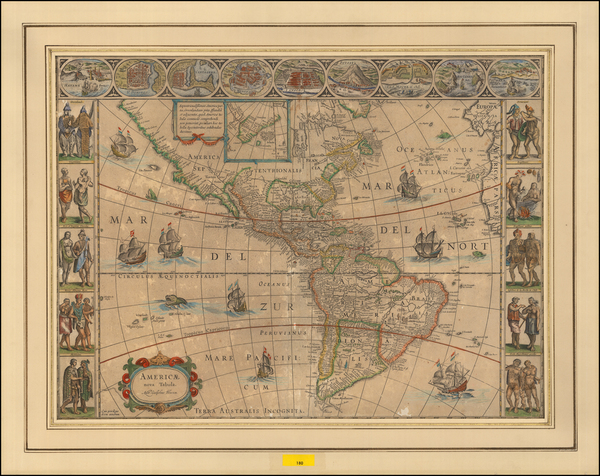63-America Map By Willem Janszoon Blaeu