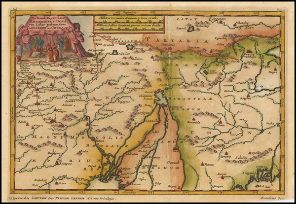 98-China, India and Central Asia & Caucasus Map By Pieter van der Aa