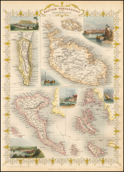 64-Greece, Mediterranean and Balearic Islands Map By John Tallis