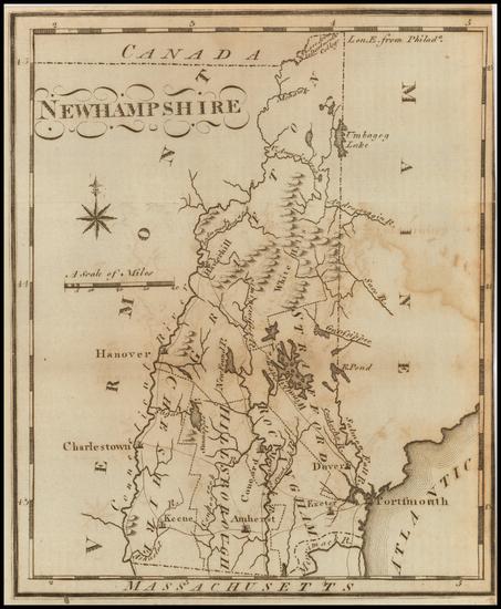86-New Hampshire Map By Joseph Scott