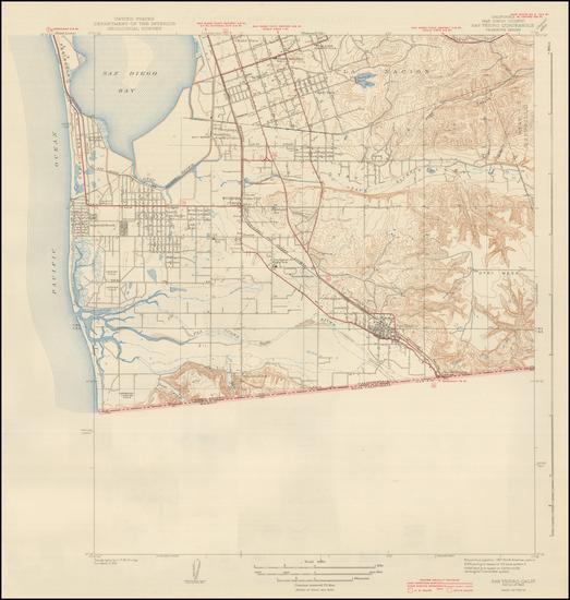 71-San Diego Map By U.S. Geological Survey
