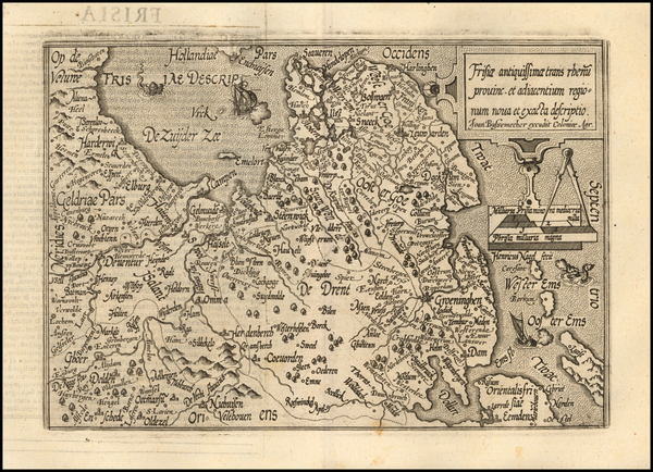 71-Netherlands Map By Matthias Quad / Johann Bussemachaer