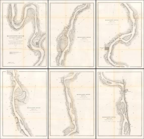 72-Midwest, Illinois, Plains and Missouri Map By United States Coast Survey