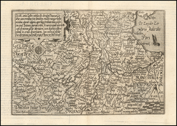 45-Netherlands Map By Matthias Quad / Johann Bussemachaer