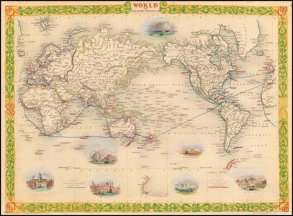 7-World Map By John Tallis