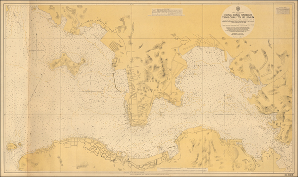 23-Hong Kong Map By Hydrographic Office East Indies Fleet