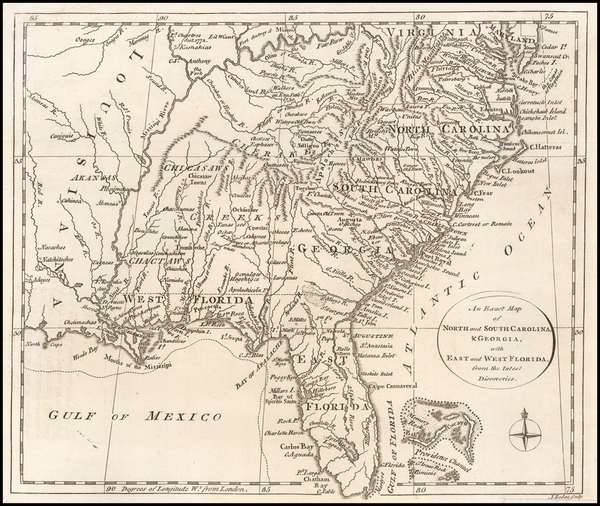 86-Florida, South and Southeast Map By John Lodge