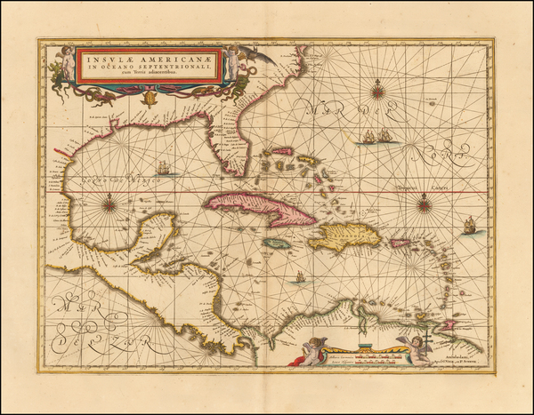 Caribbean Map By Peter Schenk  &  Gerard Valk