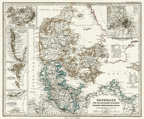 5-Europe and Scandinavia Map By Adolf Stieler