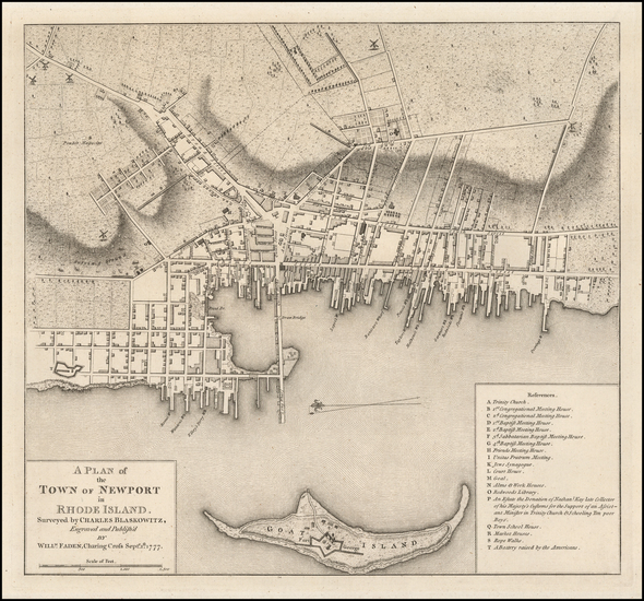 17-Rhode Island Map By William Faden