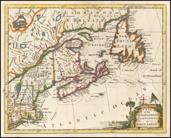 87-New England and Canada Map By London Magazine