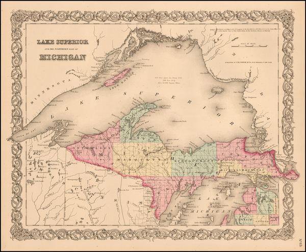Michigan Map By Joseph Hutchins Colton