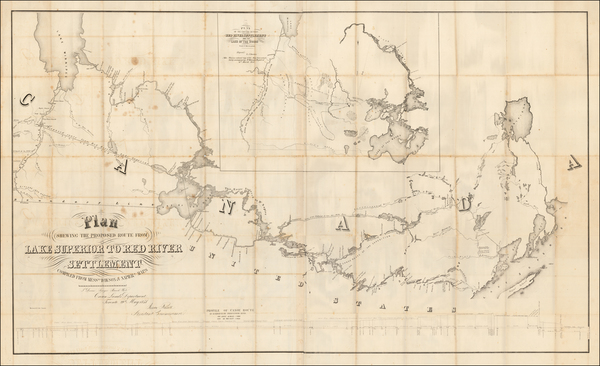 76-Midwest, Minnesota and Canada Map By Henry Y. Hind