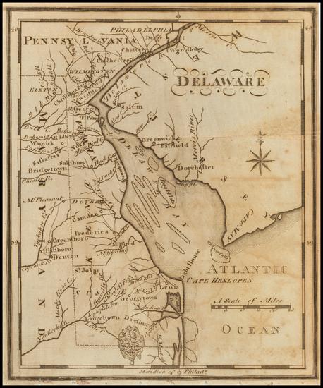 100-Delaware Map By Joseph Scott