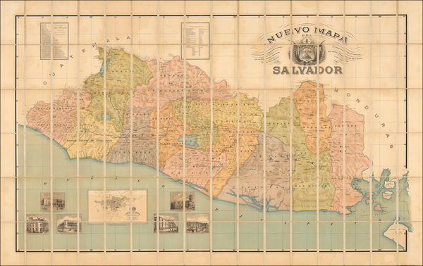 72-Central America Map By Waterlow & Sons
