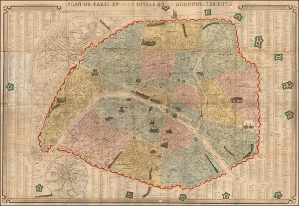 Paris Map By A. Bes et F. Dubreuil