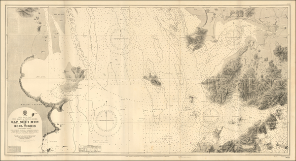 78-China and Hong Kong Map By British Admiralty