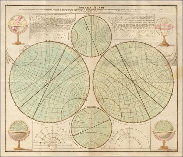 33-Celestial Maps Map By Johann Gabriele Doppelmayr