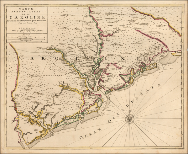 Southeast and South Carolina Map By Pieter Mortier