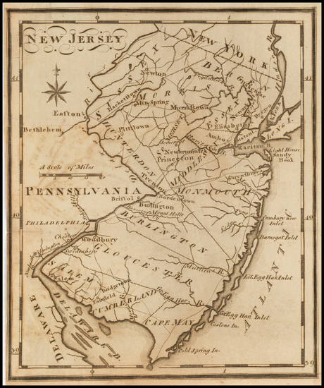 89-New Jersey Map By Joseph Scott