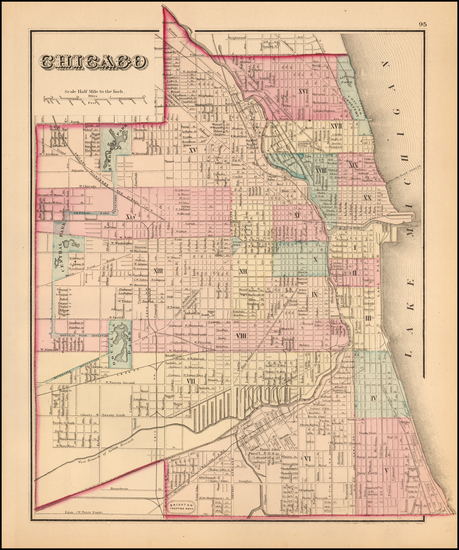 4-Illinois and Chicago Map By O.W. Gray