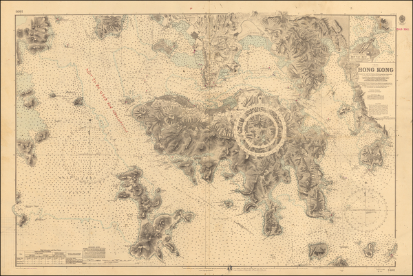 86-Hong Kong Map By British Admiralty