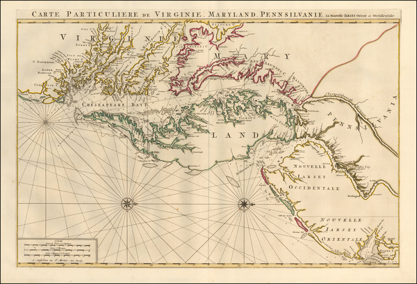 22-Mid-Atlantic, New Jersey, Maryland, Delaware, Southeast and Virginia Map By Pieter Mortier