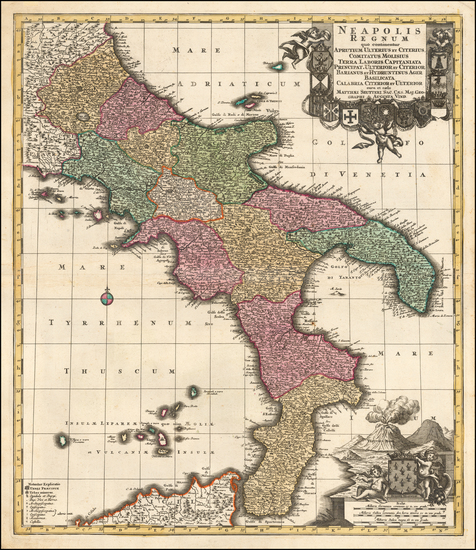 4-Southern Italy Map By Matthaus Seutter