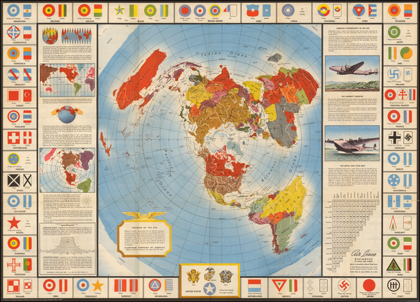 76-World and World War II Map By Alcoa Map Department
