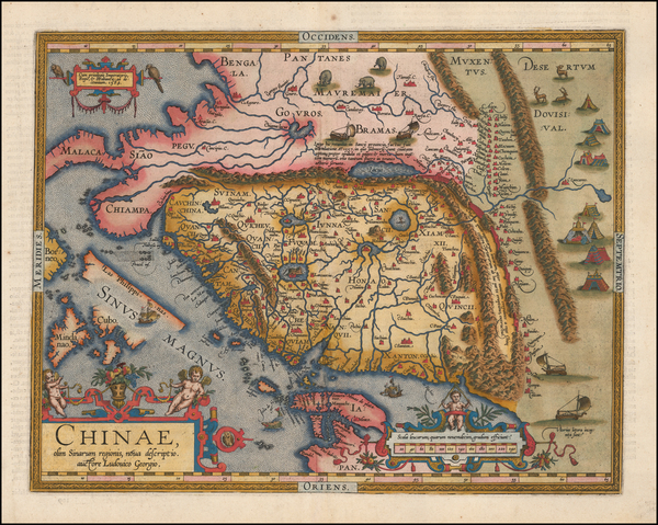 21-China, Japan, Southeast Asia and Philippines Map By Abraham Ortelius
