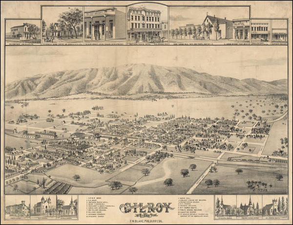 72-California and Other California Cities Map By F. W.  Blake