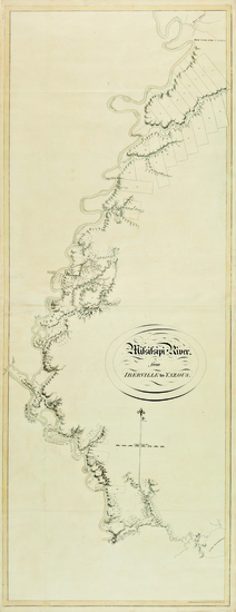 51-South, Louisiana, Mississippi and Arkansas Map By Joseph Frederick Wallet Des Barres