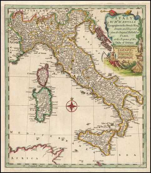 91-Italy Map By Thomas Kitchin
