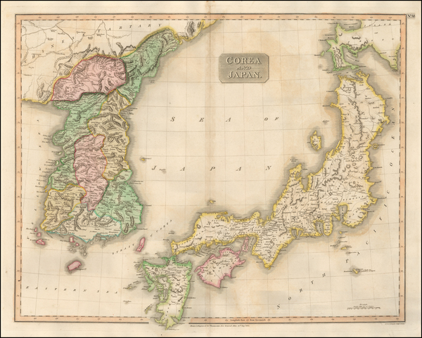 27-Japan and Korea Map By John Thomson