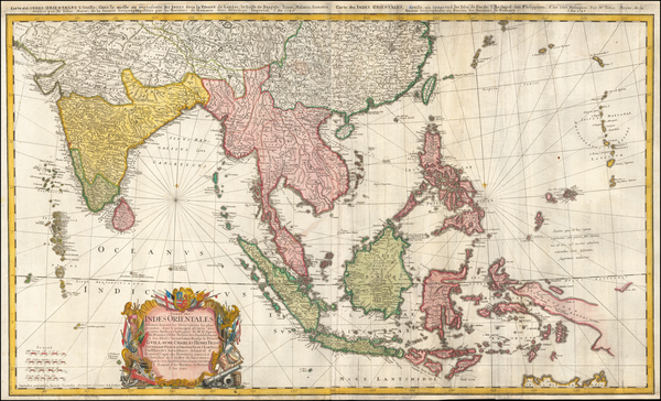 81-Indian Ocean, India and Southeast Asia Map By Homann Heirs