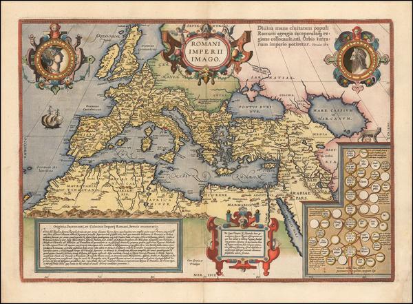 84-Europe, Italy, Mediterranean and Turkey & Asia Minor Map By Abraham Ortelius