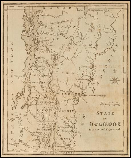 10-Vermont Map By Joseph Scott