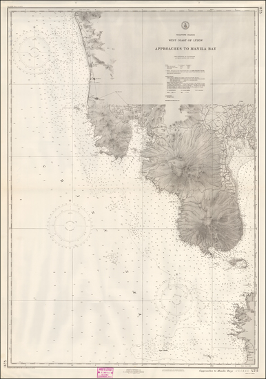 85-Philippines Map By U.S. Coast & Geodetic Survey
