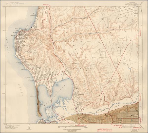 28-San Diego Map By U.S. Geological Survey